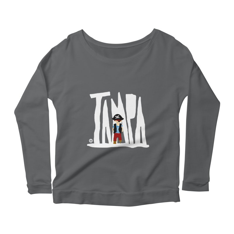 The Tampa Pirate Women's Scoop Neck Longsleeve T-Shirt by thatssotampa's Artist Shop