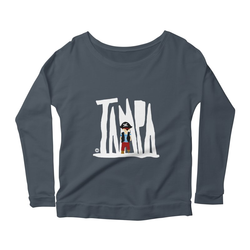 The Tampa Pirate Women's Longsleeve Scoopneck  by thatssotampa's Artist Shop