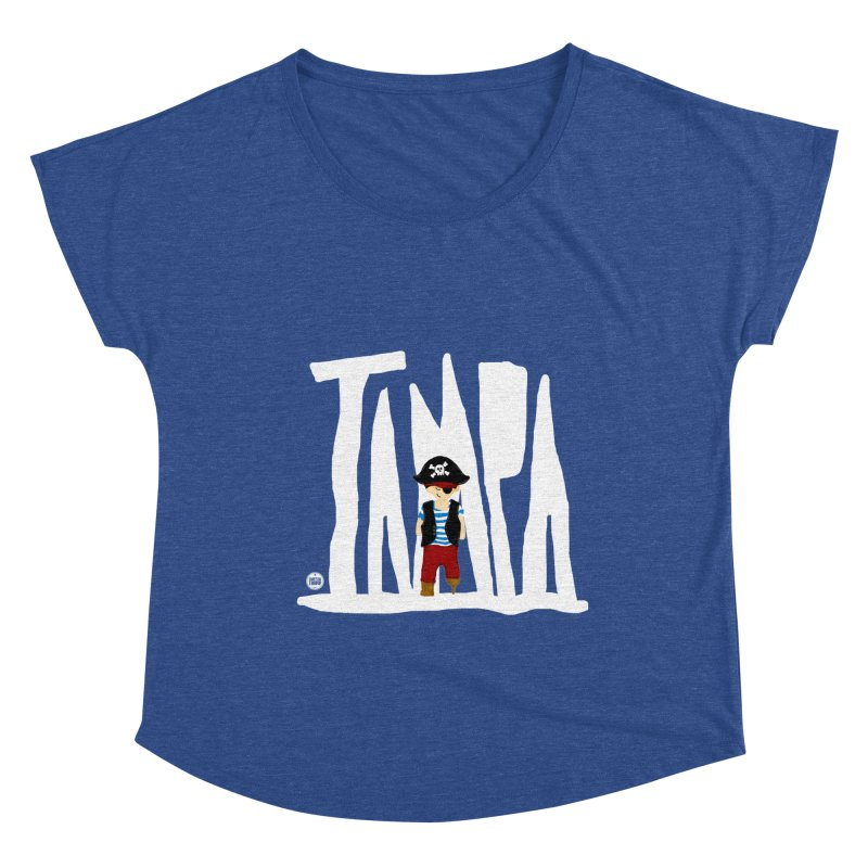 The Tampa Pirate Women's Dolman Scoop Neck by thatssotampa's Artist Shop