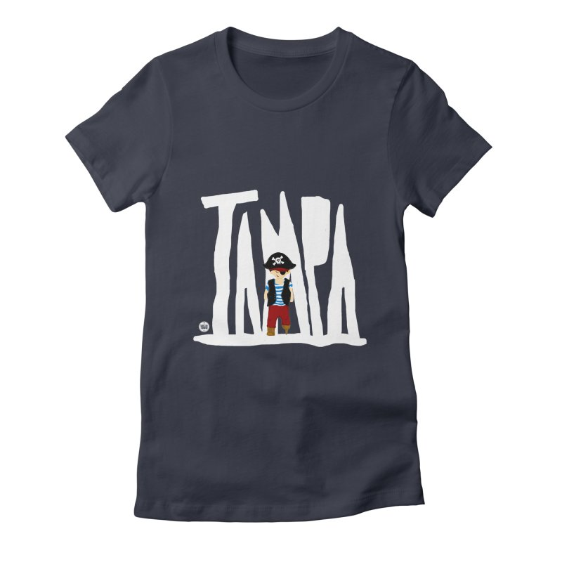 The Tampa Pirate Women's Fitted T-Shirt by thatssotampa's Artist Shop