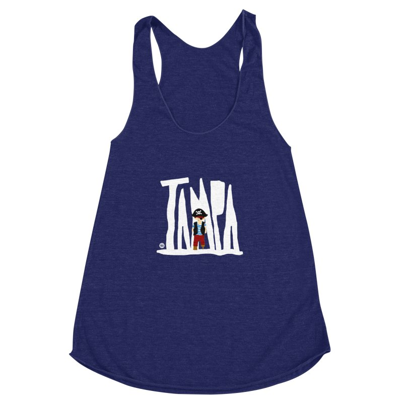 The Tampa Pirate Women's Racerback Triblend Tank by thatssotampa's Artist Shop