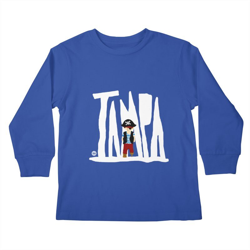 The Tampa Pirate Kids Longsleeve T-Shirt by thatssotampa's Artist Shop