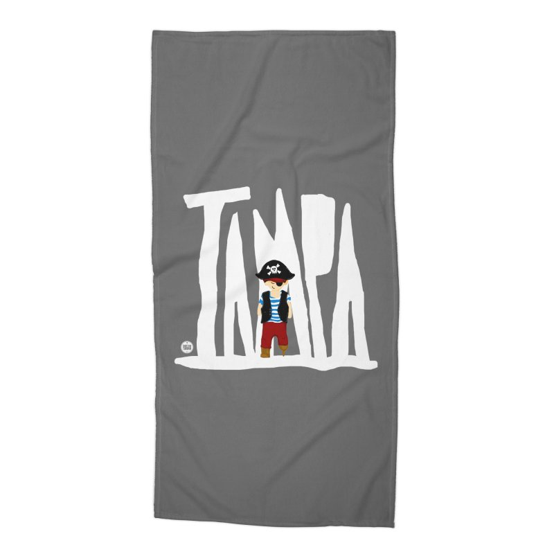 The Tampa Pirate Accessories Beach Towel by thatssotampa's Artist Shop