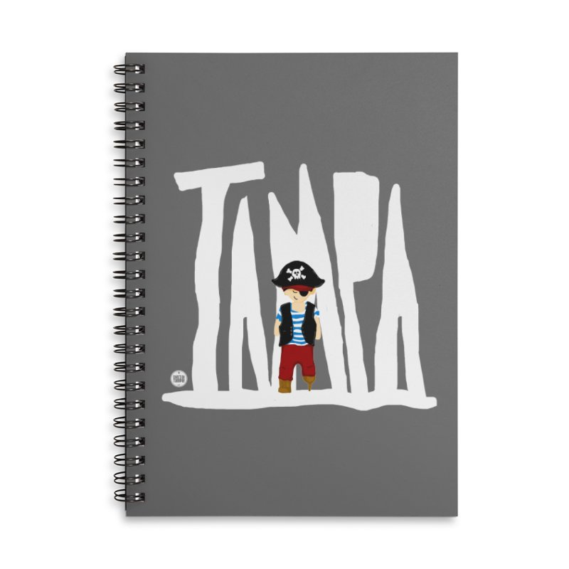 The Tampa Pirate Accessories Lined Spiral Notebook by thatssotampa's Artist Shop