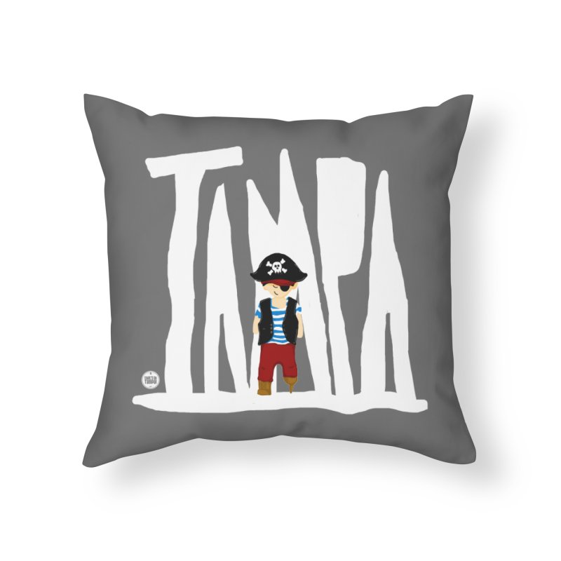The Tampa Pirate Home Throw Pillow by thatssotampa's Artist Shop