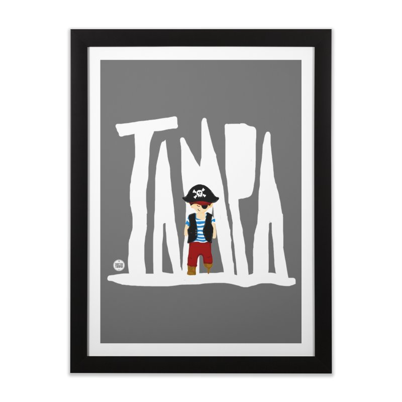 The Tampa Pirate Home Framed Fine Art Print by thatssotampa's Artist Shop