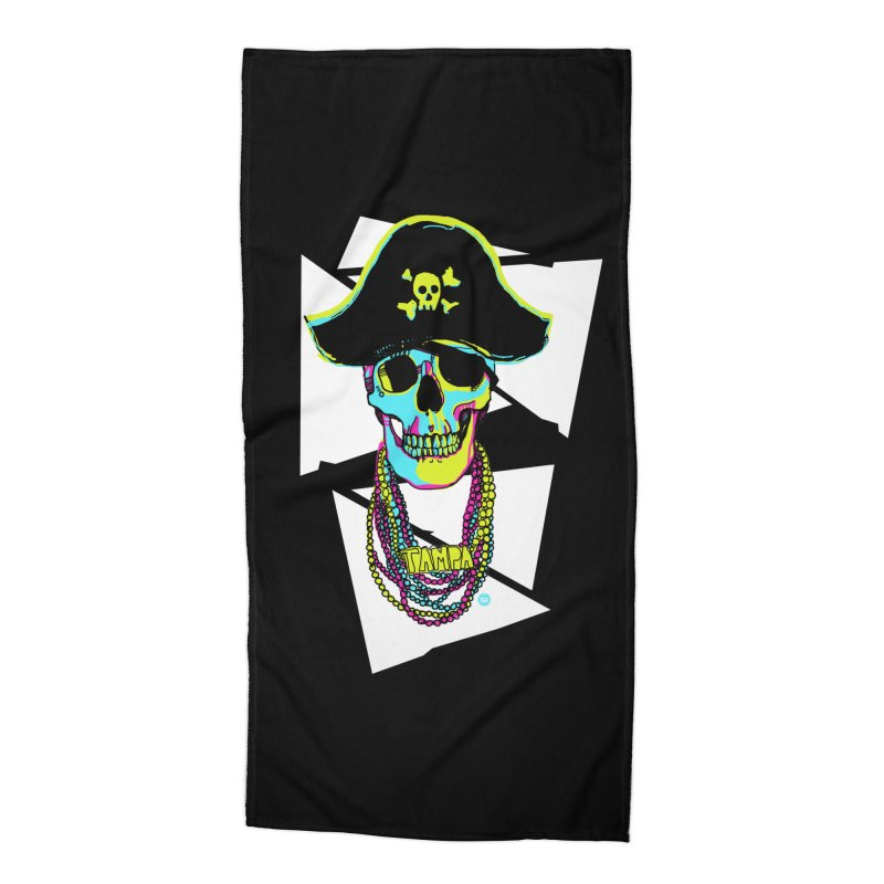 PARTY PIRATE! Accessories Beach Towel by thatssotampa's Artist Shop