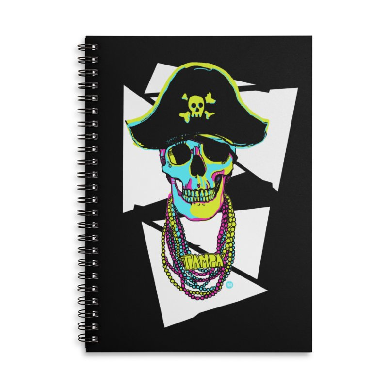 PARTY PIRATE! Accessories Lined Spiral Notebook by thatssotampa's Artist Shop