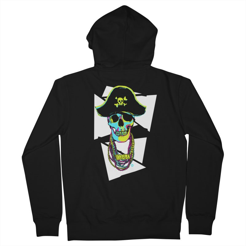 PARTY PIRATE! Women's French Terry Zip-Up Hoody by thatssotampa's Artist Shop