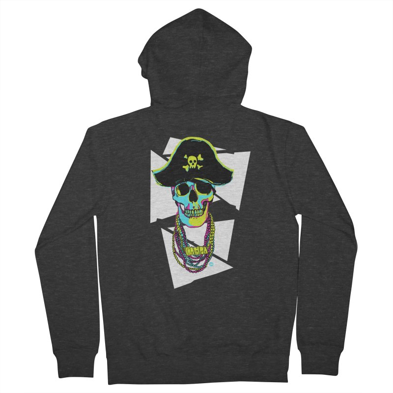 PARTY PIRATE! Men's French Terry Zip-Up Hoody by thatssotampa's Artist Shop