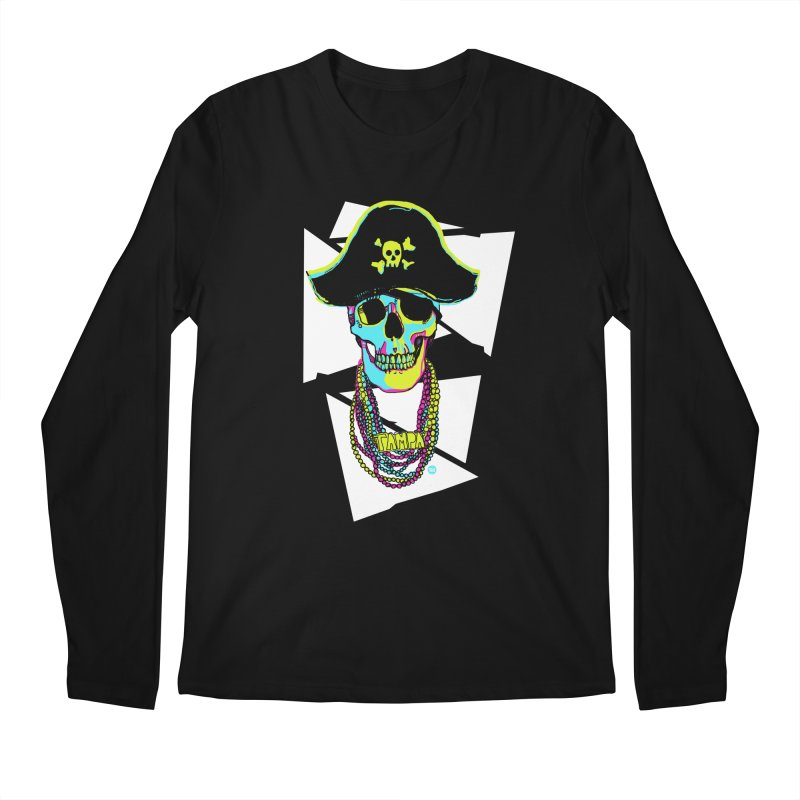PARTY PIRATE! Men's Regular Longsleeve T-Shirt by thatssotampa's Artist Shop