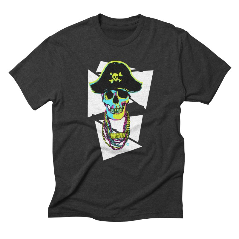PARTY PIRATE! Men's Triblend T-Shirt by thatssotampa's Artist Shop