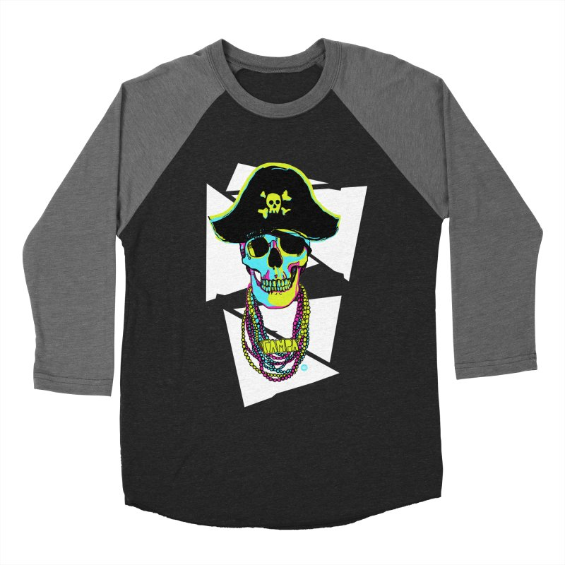 PARTY PIRATE! Men's Baseball Triblend Longsleeve T-Shirt by thatssotampa's Artist Shop