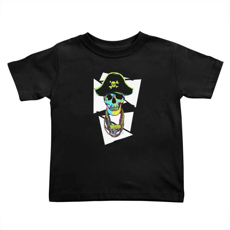 PARTY PIRATE! Kids Toddler T-Shirt by thatssotampa's Artist Shop