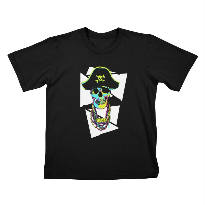 PARTY PIRATE! Kids T-Shirt by thatssotampa's Artist Shop