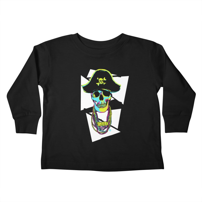 PARTY PIRATE! Kids Toddler Longsleeve T-Shirt by thatssotampa's Artist Shop