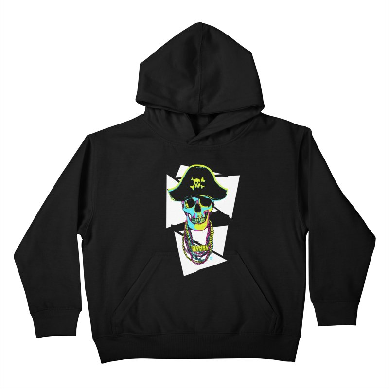 PARTY PIRATE! Kids Pullover Hoody by thatssotampa's Artist Shop
