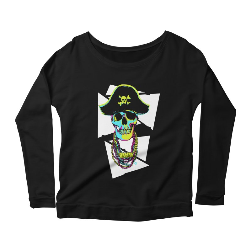 PARTY PIRATE! Women's Scoop Neck Longsleeve T-Shirt by thatssotampa's Artist Shop