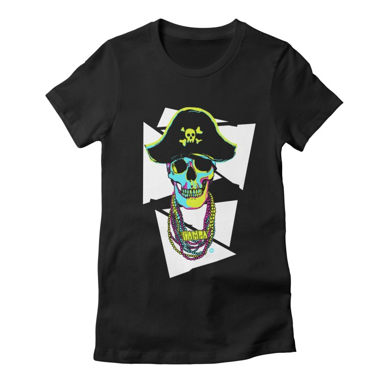 PARTY PIRATE! Women's Fitted T-Shirt by thatssotampa's Artist Shop