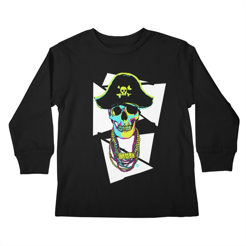 PARTY PIRATE! Kids Longsleeve T-Shirt by thatssotampa's Artist Shop