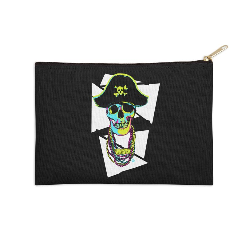 PARTY PIRATE! Accessories Zip Pouch by thatssotampa's Artist Shop