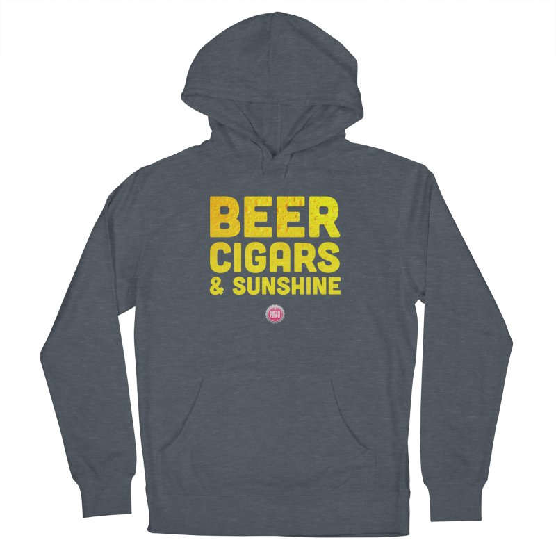 Beer, Cigars & Sunshine Men's French Terry Pullover Hoody by thatssotampa's Artist Shop