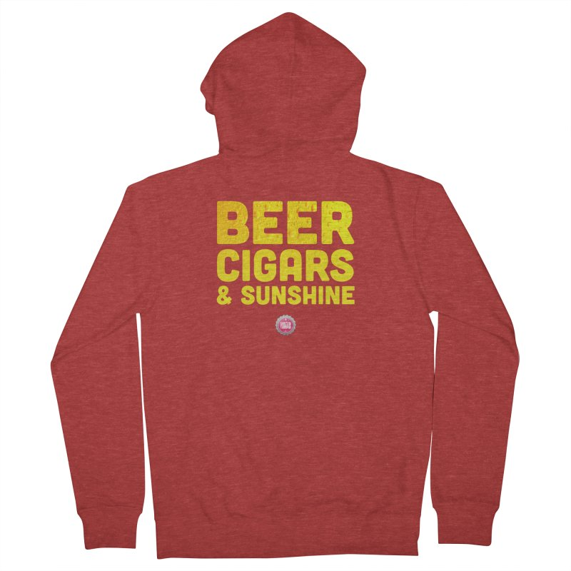 Beer, Cigars & Sunshine Women's French Terry Zip-Up Hoody by thatssotampa's Artist Shop