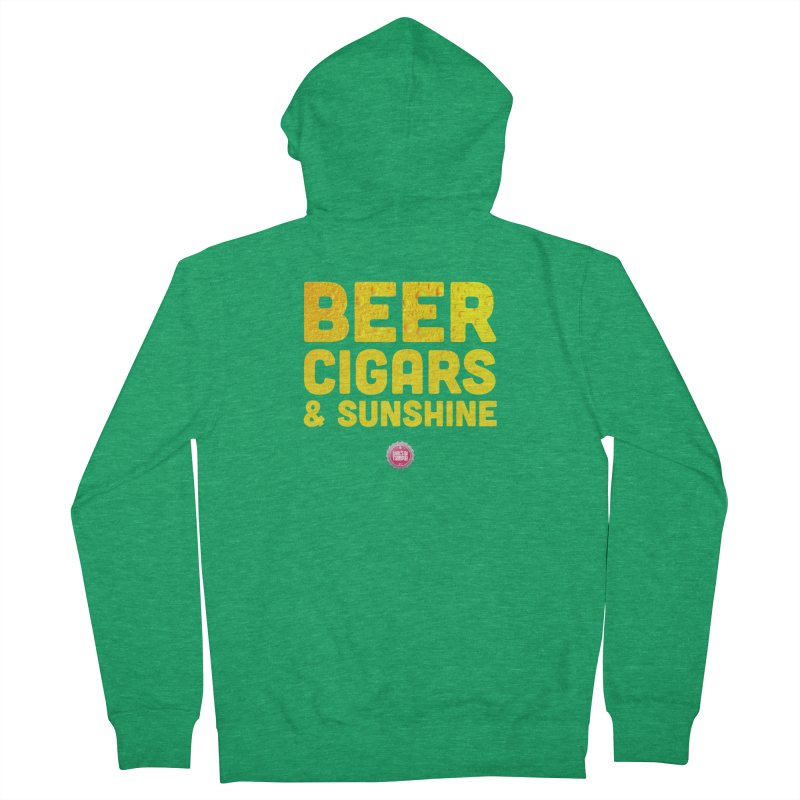 Beer, Cigars & Sunshine Men's French Terry Zip-Up Hoody by thatssotampa's Artist Shop