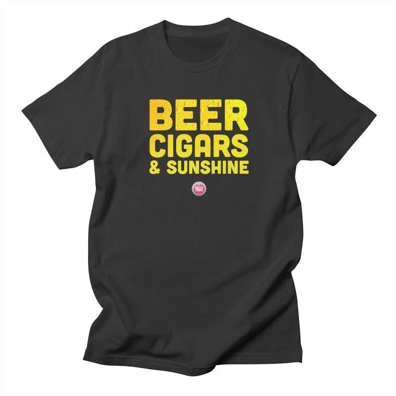Beer, Cigars & Sunshine Men's Regular T-Shirt by thatssotampa's Artist Shop