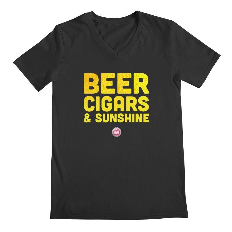 Beer, Cigars & Sunshine Men's V-Neck by thatssotampa's Artist Shop