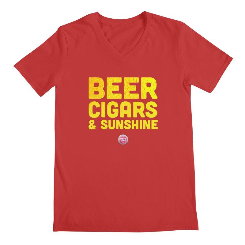 Beer, Cigars & Sunshine Men's Regular V-Neck by thatssotampa's Artist Shop