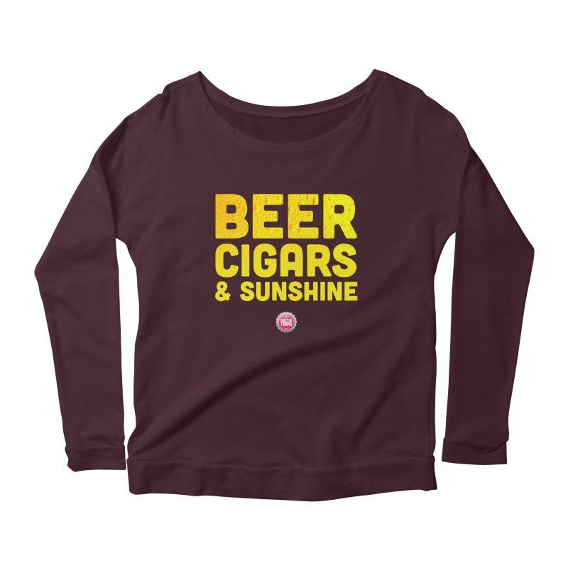 Beer, Cigars & Sunshine Women's Scoop Neck Longsleeve T-Shirt by thatssotampa's Artist Shop