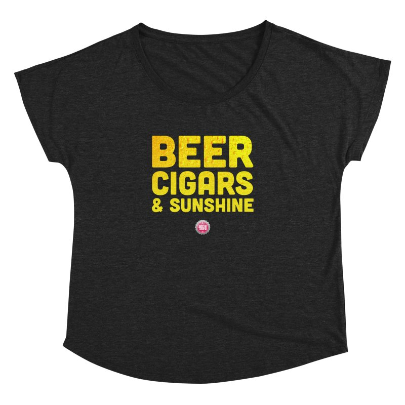 Beer, Cigars & Sunshine Women's Dolman Scoop Neck by thatssotampa's Artist Shop