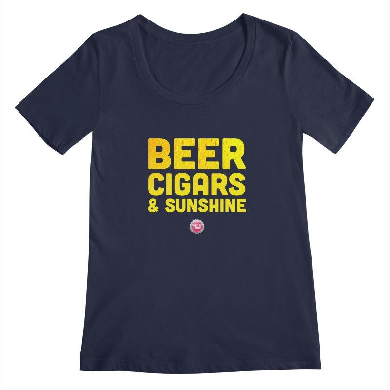 Beer, Cigars & Sunshine Women's Regular Scoop Neck by thatssotampa's Artist Shop