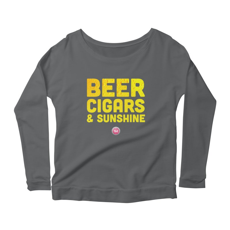 Beer, Cigars & Sunshine Women's Scoop Neck Longsleeve T-Shirt by thatssotampa's Artist Shop