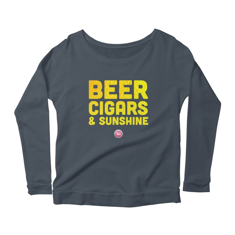 Beer, Cigars & Sunshine Women's Longsleeve Scoopneck  by thatssotampa's Artist Shop