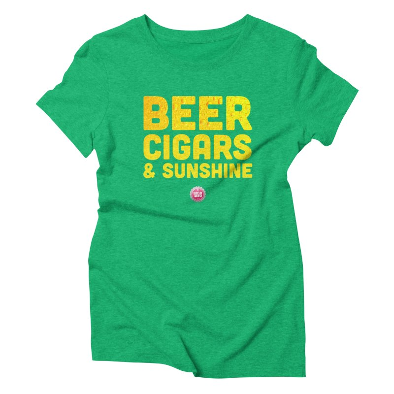 Beer, Cigars & Sunshine Women's Triblend T-Shirt by thatssotampa's Artist Shop