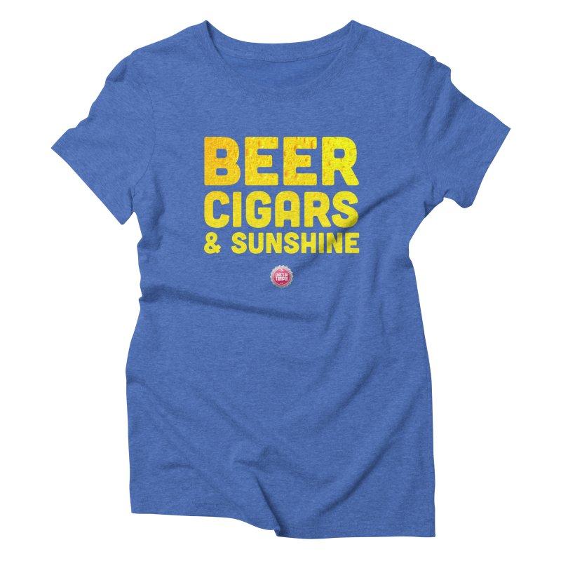 Beer, Cigars & Sunshine Women's Triblend T-Shirt by thatssotampa's Artist Shop
