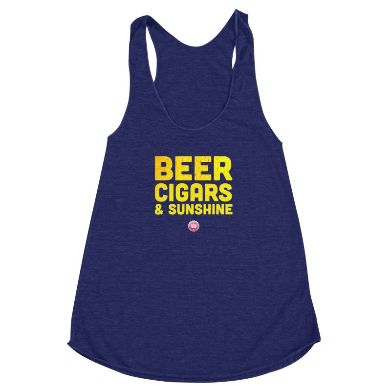 Beer, Cigars & Sunshine Women's Racerback Triblend Tank by thatssotampa's Artist Shop