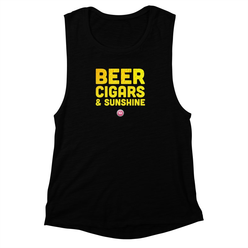 Beer, Cigars & Sunshine Women's Muscle Tank by thatssotampa's Artist Shop