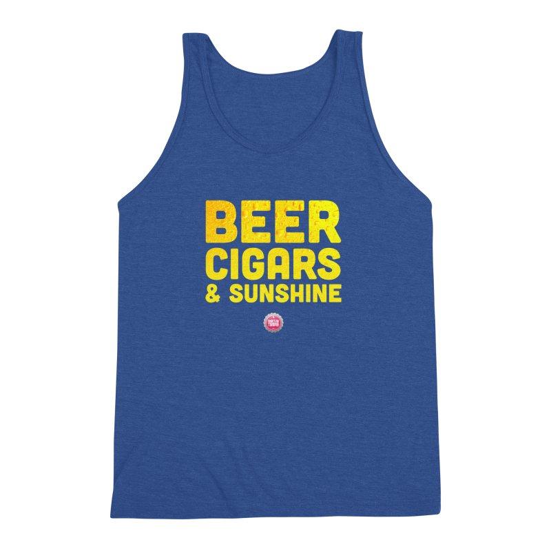 Beer, Cigars & Sunshine Men's Triblend Tank by thatssotampa's Artist Shop