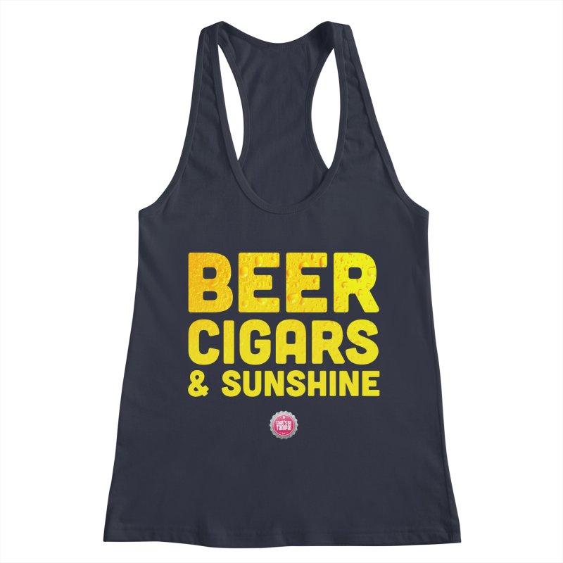 Beer, Cigars & Sunshine Women's Racerback Tank by thatssotampa's Artist Shop
