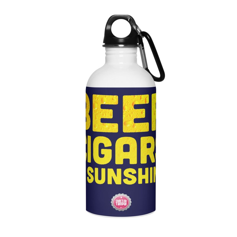 Beer, Cigars & Sunshine Accessories Water Bottle by thatssotampa's Artist Shop