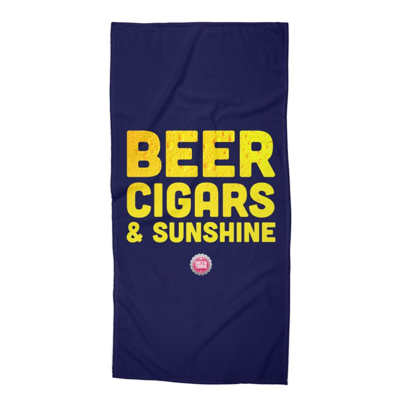 Beer, Cigars & Sunshine Accessories Beach Towel by thatssotampa's Artist Shop