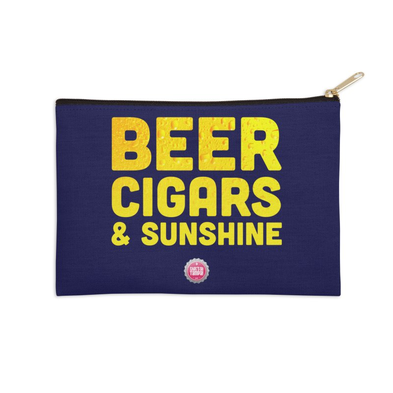 Beer, Cigars & Sunshine Accessories Zip Pouch by thatssotampa's Artist Shop