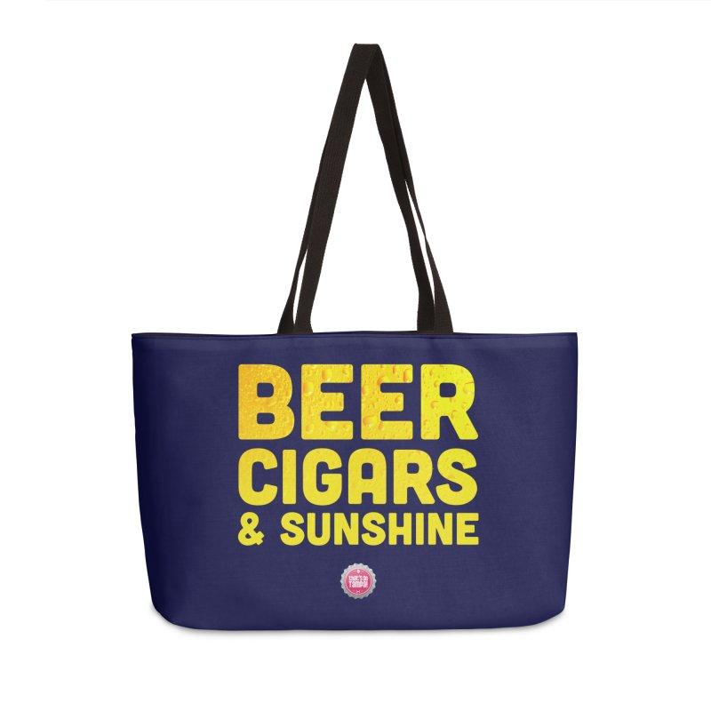 Beer, Cigars & Sunshine Accessories Weekender Bag Bag by thatssotampa's Artist Shop