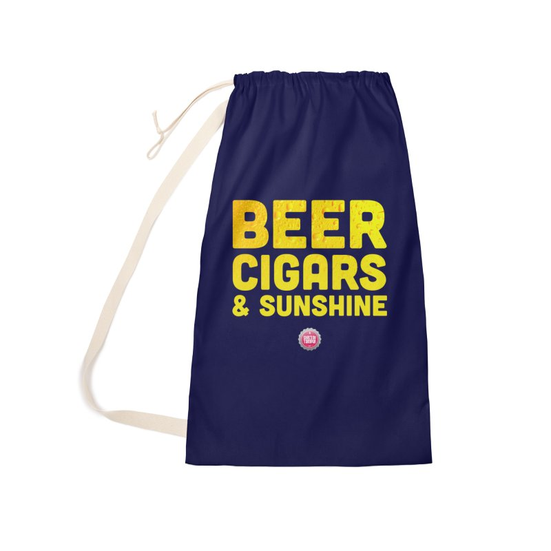 Beer, Cigars & Sunshine Accessories Laundry Bag Bag by thatssotampa's Artist Shop