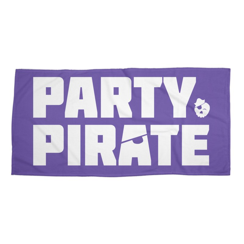 THE Party Pirate Accessories Beach Towel by thatssotampa's Artist Shop