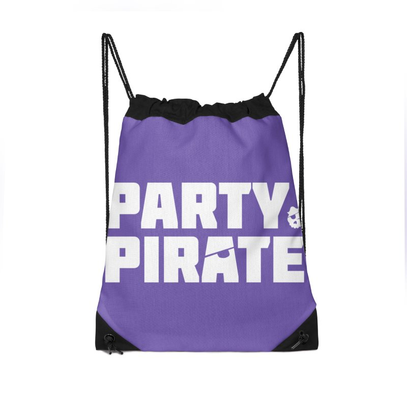 THE Party Pirate Accessories Drawstring Bag Bag by thatssotampa's Artist Shop