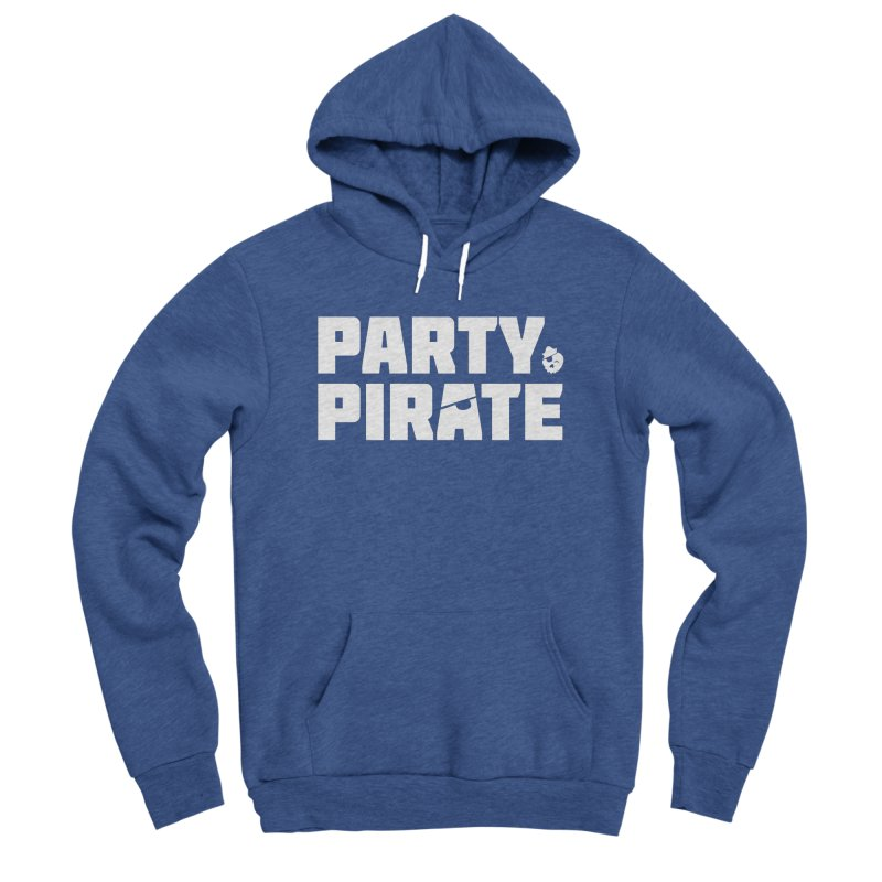 THE Party Pirate Men's Sponge Fleece Pullover Hoody by thatssotampa's Artist Shop